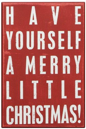 Box Sign Merry Little Christmas
